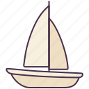 boat, sail, ship, transport, vehicle, water, yacht icon