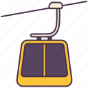 cable, car, float, transport, vehicle icon