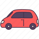 car, electric, minivan, picnic, transport, vehicle icon