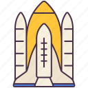 launch, rocket, sky, spaceship, transport, vehicle icon