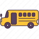bus, car, education, school, transport, vehicle icon