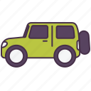 car, jeep, transport, van, vehicle icon