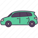 car, minivan, picnic, transport, van, vehicle icon