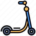 holiday, kick, scooter, transport, transportation, travel, vehicle icon