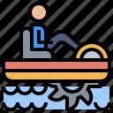 automobile, boat, pedalo, ship, transport, transportation, vehicle icon