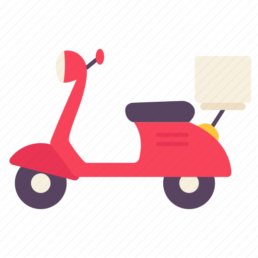 Bike, delivery, motorcycle, scooter, transport, vehicle icon - Download on Iconfinder