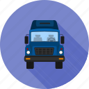 courier, delivery, load, lorry, trailer, truck, van