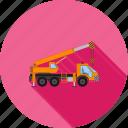 caterpillar, crane, dozer, loader, lorry, tractor, truck icon