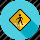 pedestrian, person, road, sign, street, traffic, transportation