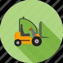 fork, forklift, lift, loader, machinery, truck, vehicle