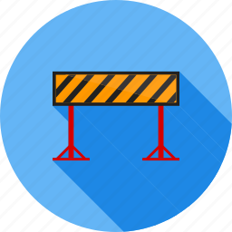 barricade, barrier, construction, hurdle, maintainance, obstacle, road icon