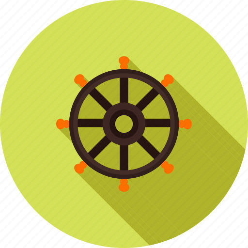 helm, rudder, ship wheel, steering, transport, travel, wheel icon