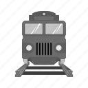 express, passage, railroad, railway, station, track, train icon