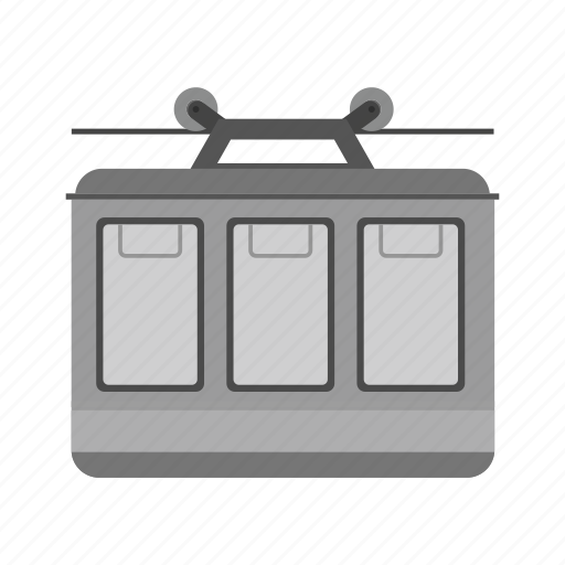 aerial, cable, cable-car, lift, tourism, transport, trolley icon