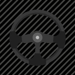 car, circle, round, steering, transport, vehicle, wheel icon