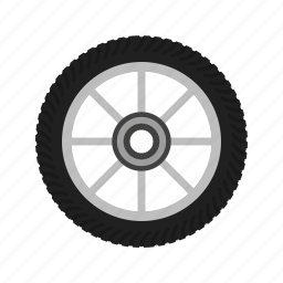 automobile, car, cycle, rim, tyre, vehicle, wheel icon