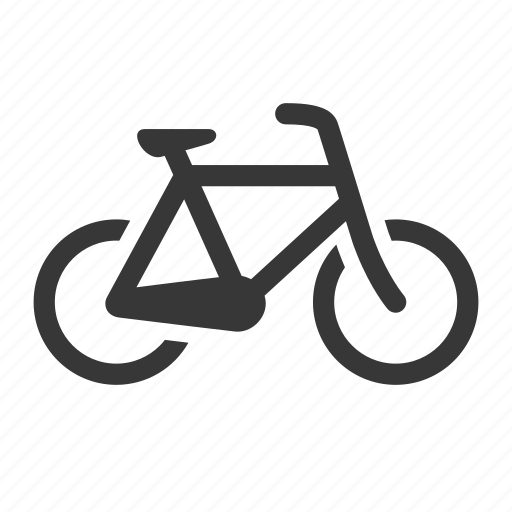 bicycle, bike, raw, simple, traffic, transport, transportation, travel icon