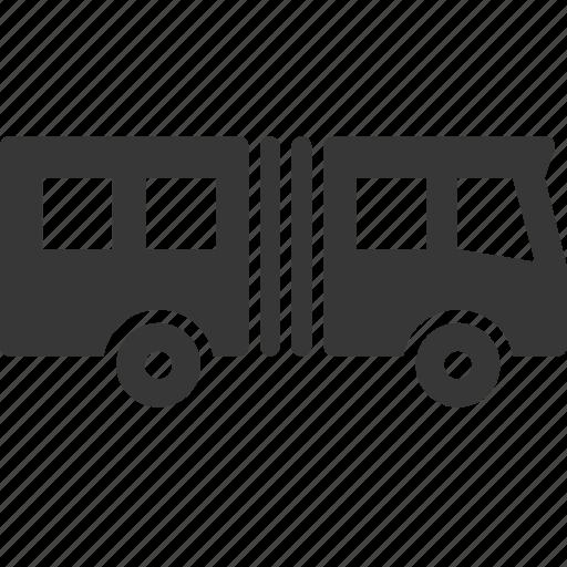 accordeon bus, bus, raw, simple, traffic, transport, transportation, travel icon