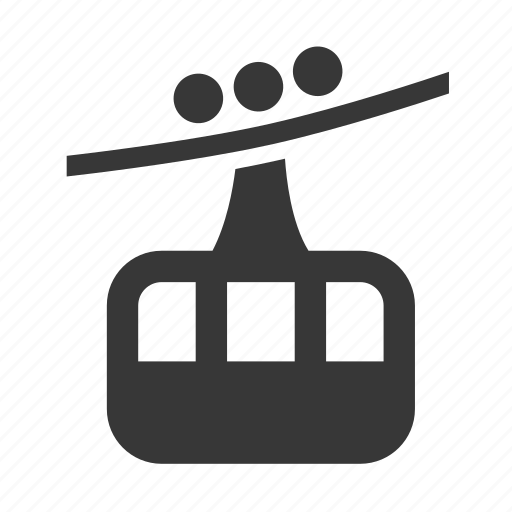 cable cart, gondola, raw, simple, skilift, traffic, transport, transportation, travel icon
