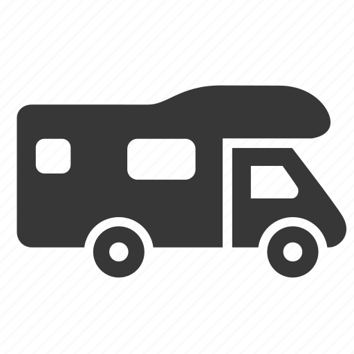 camper, mobile home, raw, simple, traffic, trailer, transport, transportation, travel icon