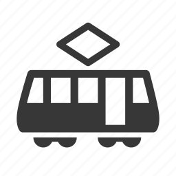 cable car, raw, simple, traffic, tram, transport, transportation, travel icon