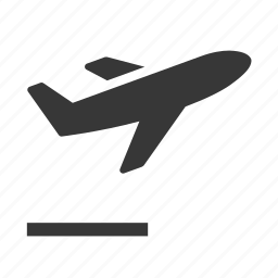 airplane, ascending airplane, raw, simple, transport, transportation, travel icon