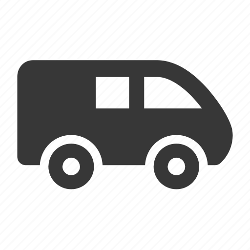 delivery van, raw, simple, transport, transportation, travel, van icon