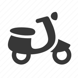 moped, motorcycle, raw, scooter, simple, transport, transportation, travel icon