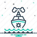 cruise, marine, maritime, sea, ship, transport, travel icon