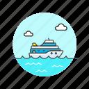 cruise, ferry, ship, transportation, marine, sea, travel icon