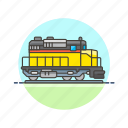 diesel, engine, railway, train, transportation, travel, vehicle icon
