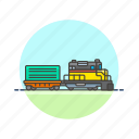car, delivery, diesel, engine, railway, train, transportation, vehicle icon