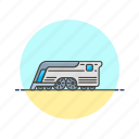 future, mercury, railway, retro, train, transportation, travel icon
