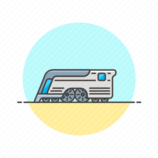future, mercury, railway, retro, train, transportation, travel icon
