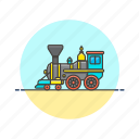 delivery, engine, old, railway, steam, train, transportation, vehicle icon