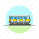 car, railway, train, transportation, travel, vagon, vehicle icon