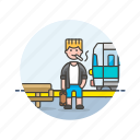 man, passenger, railway, terminal, train, transit, transportation, travel icon