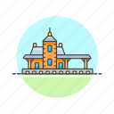 railway, station, terminal, train, transportation, travel icon