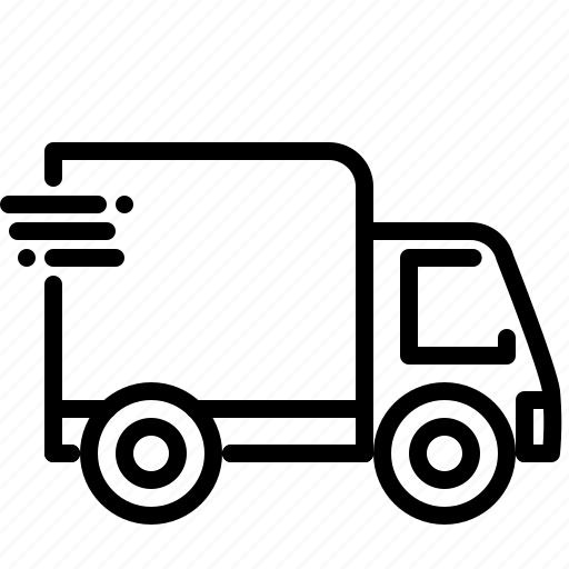 car, delivery, fast, service, transportation, truck, van icon