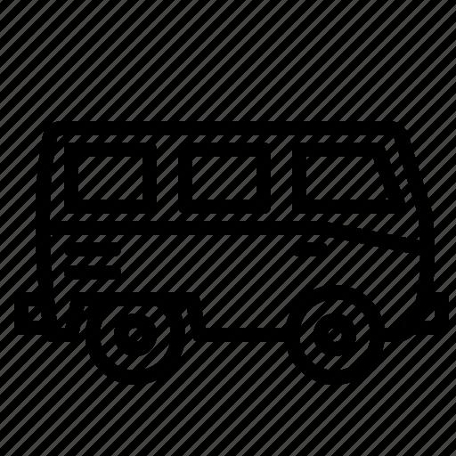 combi, hippy, minibus, transportation, vehicle, vw icon