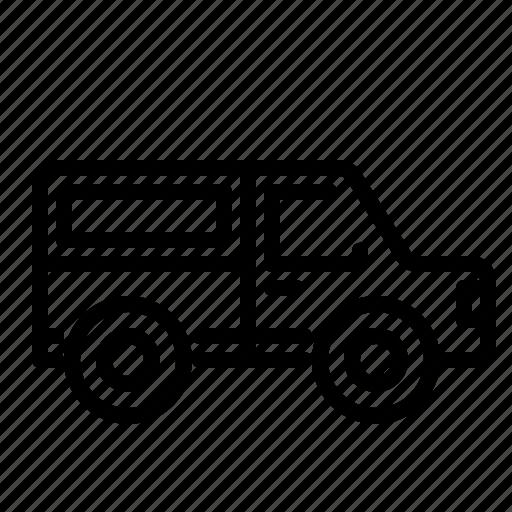 adventure, car, jeep, minibus, suv, transportation, vehicle icon