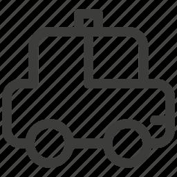 auto, automobile, car, police, transportation, travel icon