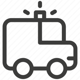 automobile, beacon, bus, car, police, siren, transportation icon