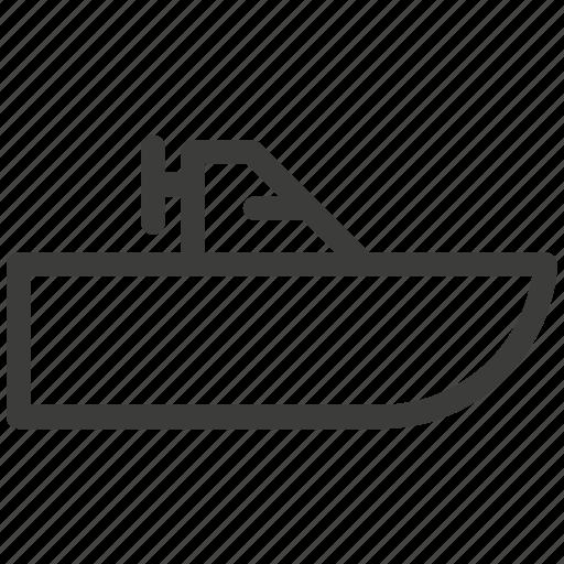 beach, boat, rest, sea, ship, transportation, walking icon