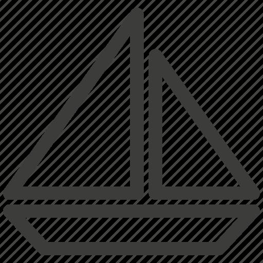 boat, regatta, sailing, ship, transportation, walk icon