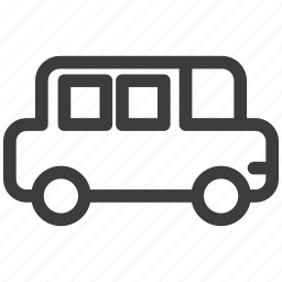 auto, automobile, bus, delivery, traffic, transportation, travel icon