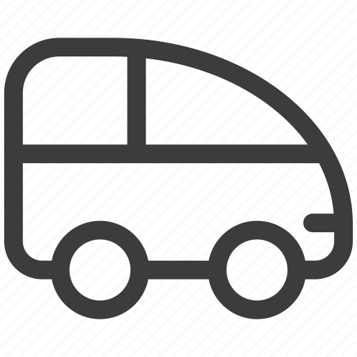 auto, automobile, bus, car, delivery, transportation, travel icon
