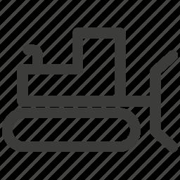 automobile, bulldozer, car, excavator, tractor, transportation icon