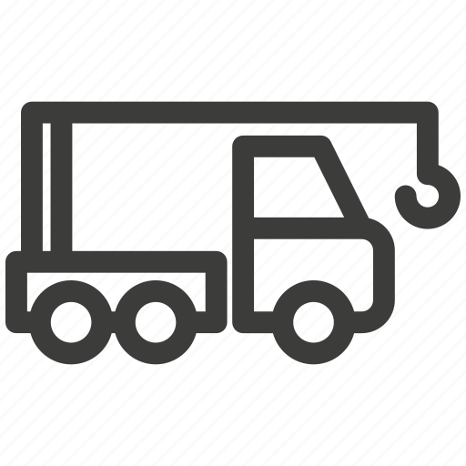 automobile, car, crane, delivery, transportation, truck, trucking icon