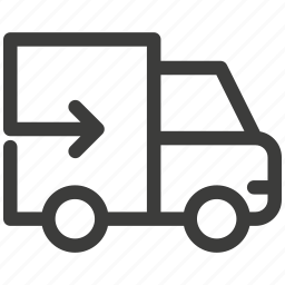 automobile, car, fast, shipping, transportation, truck, trucking icon